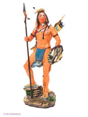 Статуэтка Индеец Veronese. Цвет: оранжевый, синий