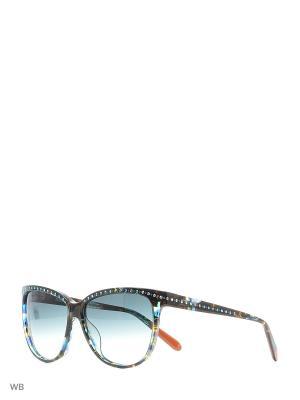 Солнцезащитные очки MI 833S 03 Missoni. Цвет: синий
