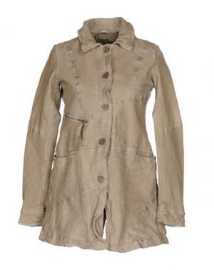 Легкое пальто FREAKY NATION. Цвет: голубиный серый