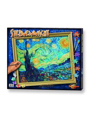 Раскраска по номерам, Репродукция Звездная ночь Ван Гог, 50х60 см Schipper. Цвет: голубой
