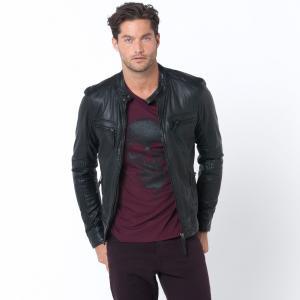Куртка кожаная OAKWOOD. Цвет: каштановый,темно-синий,черный