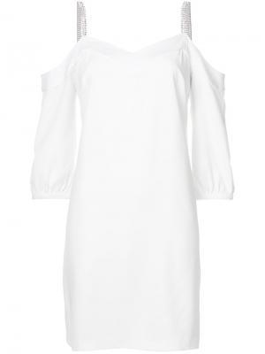 Платье с открытыми плечами Trina Turk. Цвет: белый