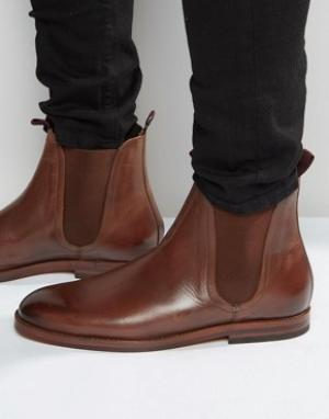 Hudson London Кожаные ботинки челси Tamper. Цвет: коричневый