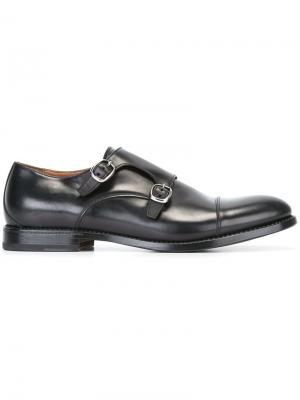 Туфли монки W.Gibbs. Цвет: чёрный