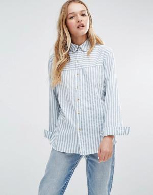Rollas Рубашка в полоску. Цвет: синий