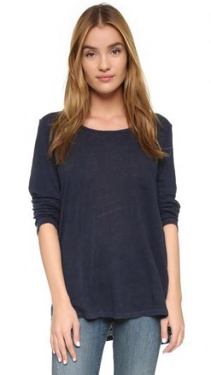 Классическая футболка Le с длинными рукавами FRAME. Цвет: темно-синий