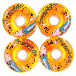 Колеса для скейтборда лонгборда  Freeride 7 Wheels Sun Orange 78A 70 mm Sector 9. Цвет: оранжевый