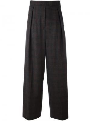 Широкие брюки в клетку Brunello Cucinelli. Цвет: коричневый