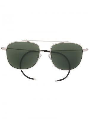 Солнцезащитные очки авиаторы Notomy Epøkhe. Цвет: металлический