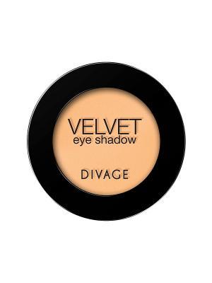 Матовые одноцветные тени для век VELVET тон 7320 DIVAGE. Цвет: горчичный