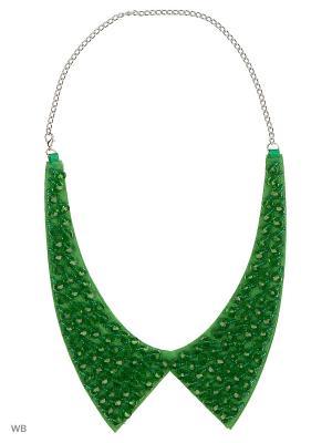 Ожерелье-воротник Bizon. Цвет: зеленый