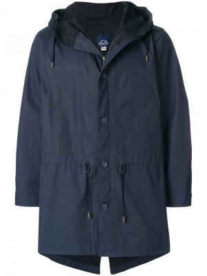 Куртка с капюшоном Bleu De Paname. Цвет: синий