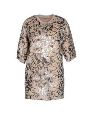 Короткое платье EYEDOLL. Цвет: бежевый