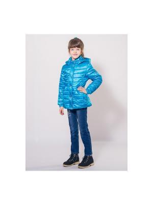 Куртка SAIMA. Цвет: бирюзовый