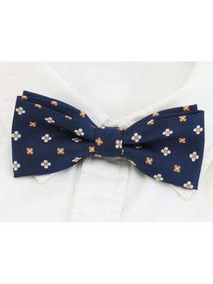 Галстук-бабочка Churchill accessories. Цвет: темно-синий, белый, рыжий