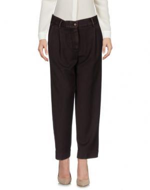 Повседневные брюки MYTHS. Цвет: темно-коричневый