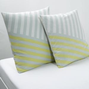 Наволочка квадратная Kyoka La Redoute Interieurs. Цвет: экрю/серый/желтый