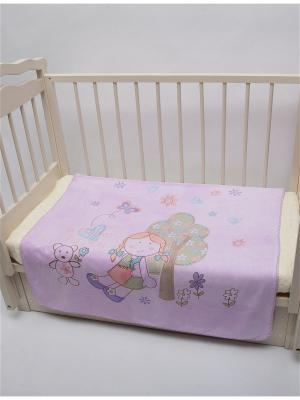 Плед  фиолетовый ДЕВОЧКА,105х105 Dream time. Цвет: фиолетовый