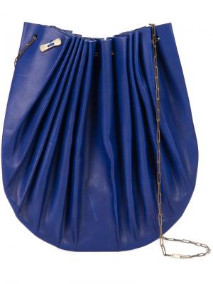 Сумка на плечо цепочке Ma+. Цвет: синий