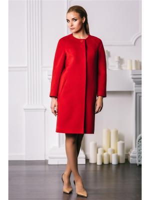 Пальто Exalta. Цвет: красный