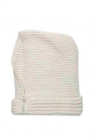 Капор из шерсти в кристаллах Swarovski 181625 Mondana. Цвет: белый