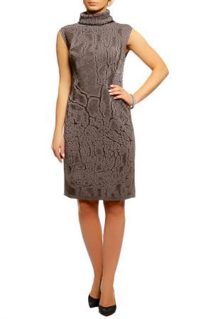 Платье Shes so. Цвет: коричневый