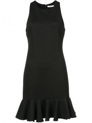 Платье  с баской Halston Heritage. Цвет: чёрный