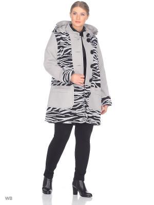Пальто Fart Favorita. Цвет: серый, черный