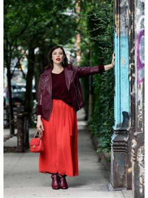 Куртка - BURGUNDY Violeta by Mango. Цвет: темно-красный