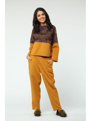 Костюм: брюки, джемпер KATA BINSKA. Цвет: желтый
