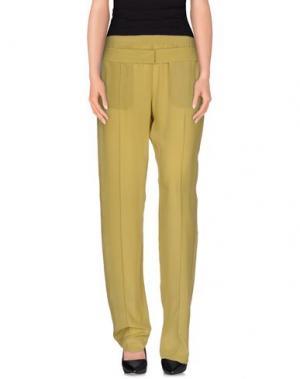 Повседневные брюки PINKO UNIQUENESS. Цвет: охра
