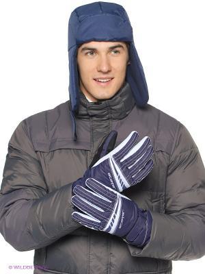 Перчатки Stayer. Цвет: синий, серый