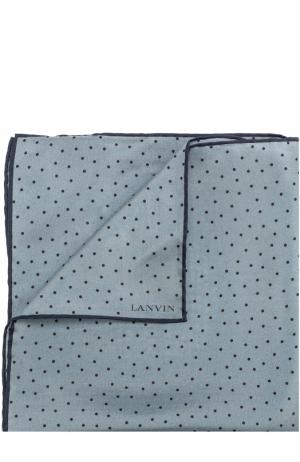 Шелковый платок с принтом Lanvin. Цвет: серый