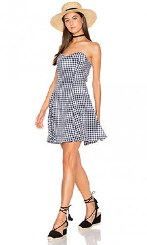 Платье без бретель Lucca Couture. Цвет: black & white
