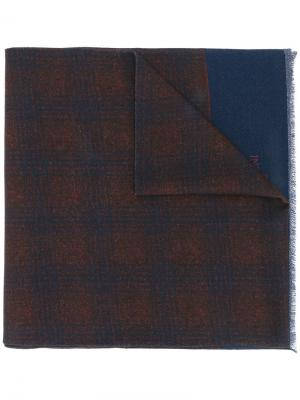 Checked scarf Corneliani. Цвет: синий