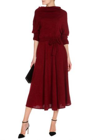 Платье длинное Кокон Ангора Alina Assi. Цвет: бордовый