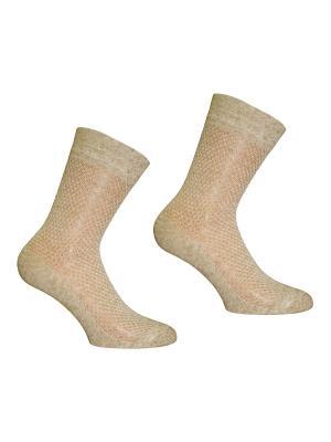 Носки 3 пары Master Socks. Цвет: бежевый