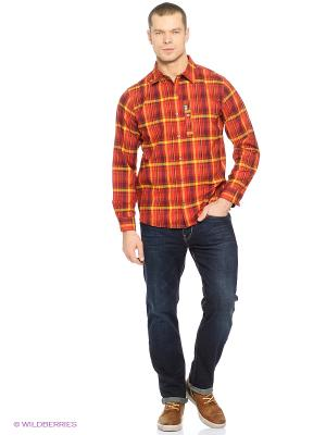 Рубашка MAITLAND II SHIRT LS M Jack Wolfskin. Цвет: красный