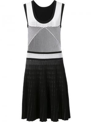 Приталенное платье без рукавов Prabal Gurung. Цвет: чёрный