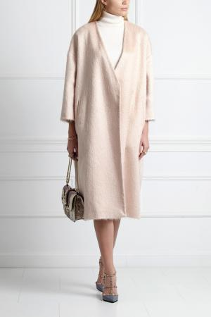 Шерстяное пальто Masterpeace. Цвет: розовый