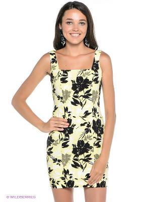 Платье Befree. Цвет: желтый, черный