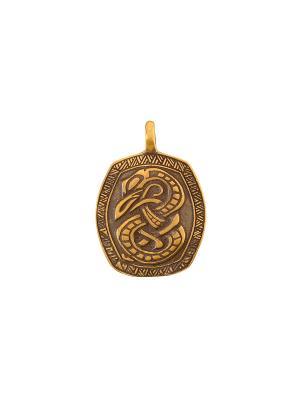 Амулет защитный Змей Ёрмунганд Aztek. Цвет: желтый