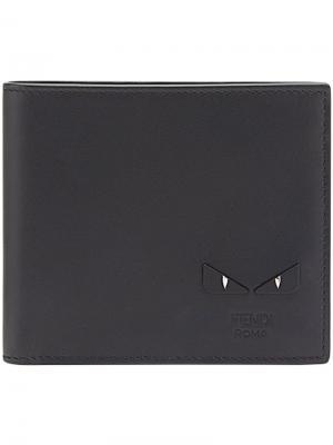 Бумажник Bag Bugs Fendi. Цвет: чёрный