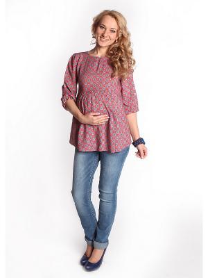 Блуза Мамуля красотуля. Цвет: коралловый