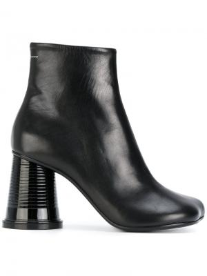 Ботинки на каблуке в форме пластикового стаканчика Mm6 Maison Margiela. Цвет: чёрный