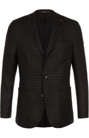 Однобортный шерстяной пиджак Windsor. Цвет: коричневый