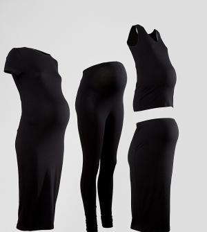 ASOS Maternity Базовый комплект для беременных. Цвет: черный