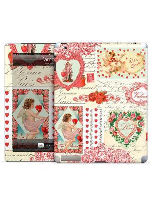 Виниловая наклейка для iPad 2,3,4 Lamour-Gillian Fullard Gelaskins. Цвет: красный, бежевый, молочный