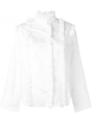 Классическая рубашка Marquesalmeida Marques'almeida. Цвет: белый