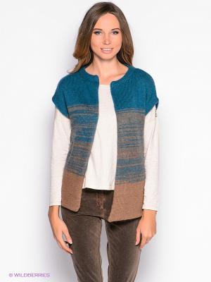 Жакет American Outfitters. Цвет: морская волна, коричневый